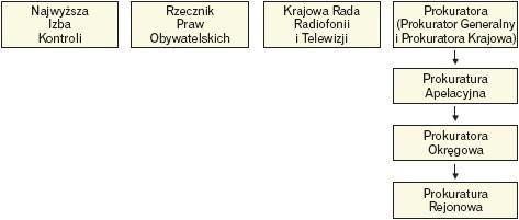 Struktura organów kontroli i przestrzegania prawa