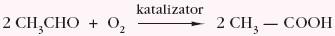 katalityczne utlenianie etanalu do kwasu etanowego