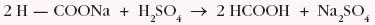działanie kwasem siarkowym(VI) na metanian sodu w celu otrzymania kwasu metanowego