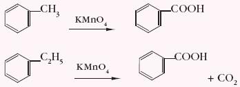 utlenianie metylobenzenu i etylobenzenu manganianem(VII) potasu