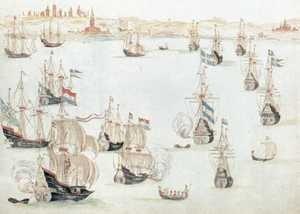 Bitwa pod Oliwą, rycina z XVII wieku