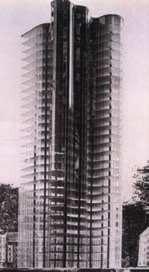 Makieta projektu szklanego drapacza chmur, Mies van der Rohe.