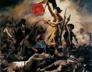 Wolność prowadząca lud na barykady, Eugène Delacroix