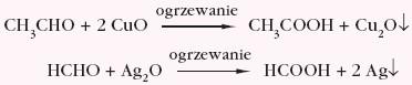 utlenianie aldehydów bądź ketonów