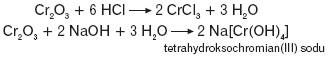 Reakcje z tlenkiem chromu(III)