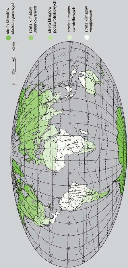 Mapa stref klimatycznych wg W. Okołowicza.