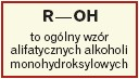 Ogólny wzór alkoholi monohydroksylowych