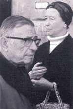 Simone de Beauvoir i Jean-Paul Sartre.