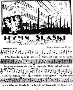 Strona tytułowa Hymnu śląskiego Feliksa Nowowiejskiego