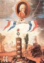 Alegoria wartości republikańskich według Jana Jakuba Rousseau.
