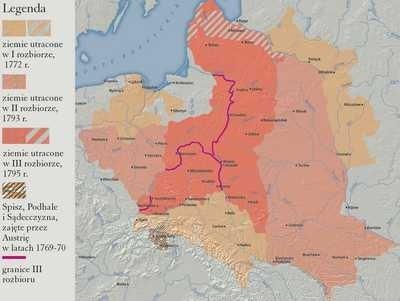 Ziemie polskie utracone podczas III kolejnych rozbiorów