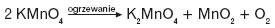 Powstawanie manganianów(VII)