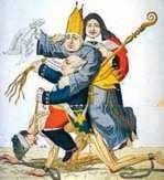 Karykatura francuska symbolizująca ucisk chłopów.