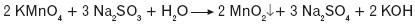 Redukcja manganianu(VII) w środowisku obojętnym