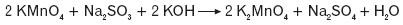 Redukcja manganianu(VII) w środowisku zasadowym