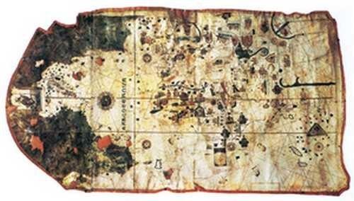 Mapa wykonana przez Juana de La Cosę, 1500 rok