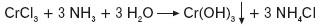 Wytrącanie się wodorotlenku chromu(III)