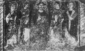 Cyryl i Metody – fresk z bazyliki św. Klemensa w Rzymie