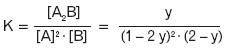 Obliczanie stałej równowagi K