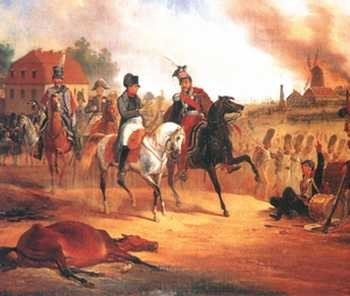 Napoleon i książę Józef Poniatowski pod Lipskiem, January Suchodolski