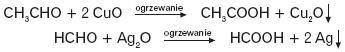 Utlenianie aldehydów lub ketonów