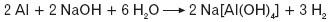 Reakcja glinu z zasadą sodową