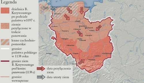 Ziemie polskie za panowania Bolesława Krzywoustego