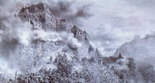 Szturm Budy, 21 maja 1849 roku, August von Pettenkofen