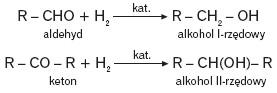 Redukcja aldehydów lub ketonów wodorem