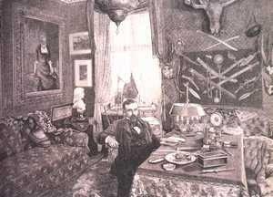 Henryk Sienkiewicz w swoim gabinecie