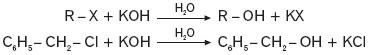 Reakcja halogenków alkilowych z mocnymi zasadami