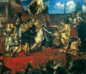 Hołd pruski (fragment), Jan Matejko.