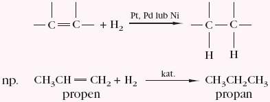 Przyłączanie cząstki alkenu