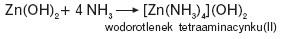 Roztwarzanie wodorotlenku cynku(II) w amoniaku