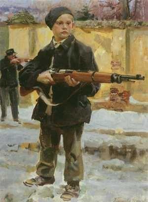Młody obrońca, Wojciech Kossak