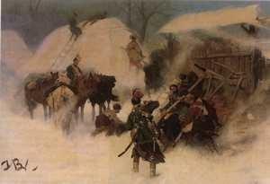 Konfederaci barscy, fragment obrazu Józefa Brandta