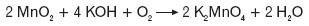 Powstawanie soli manganianów(VI)