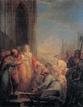 Kazimierz Wielki słucha skarg chłopów, Marcello Bacciarelli