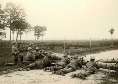 Powstańcy wielkopolscy podczas walk