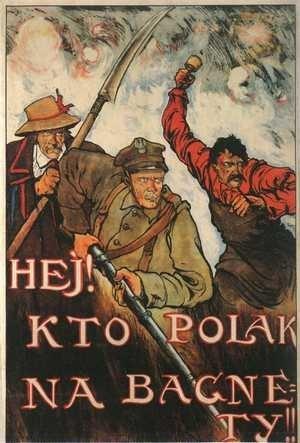 Plakat z 1920 roku wzywający do obrony przed bolszewikami