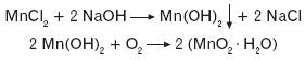 Powstawanie wodorotlenku manganu(II)