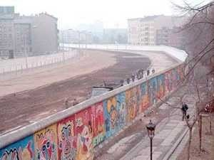 Mur berliński – widok od strony zachodniej