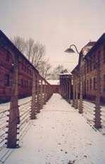 Obóz koncentracyjny w Oświęcimiu, widok współczesny.