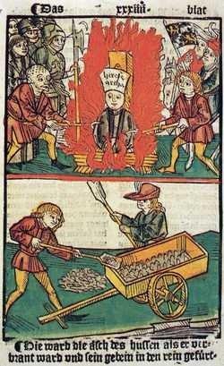 spalenie Hussa
