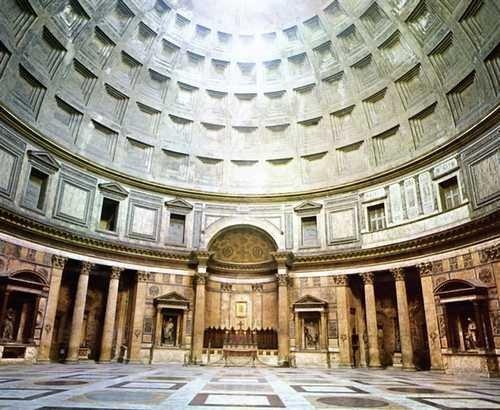 Panteon w Rzymie, wnętrze w świątyni