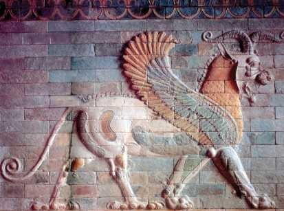 Dekoracja z pałacu Dariusza I w Suzie
