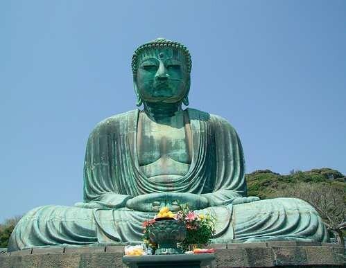 Statua Buddy w Kamakurze w Japonii