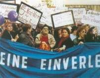 Demonstracja przeciwników ustawy aborcyjnej. Berlin, 29 maja 1990  r.