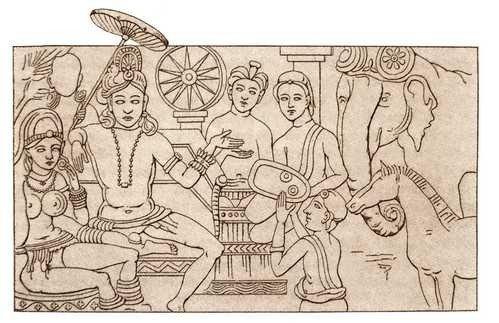 Relief przedstawiający władcę. Muzeum w Madras